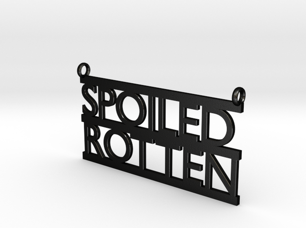 Spoiled Rotten Pendant 3d printed