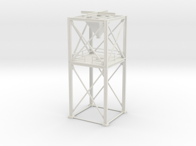 S Scale' - 16'x16' Loadout Structure in White Natural Versatile Plastic