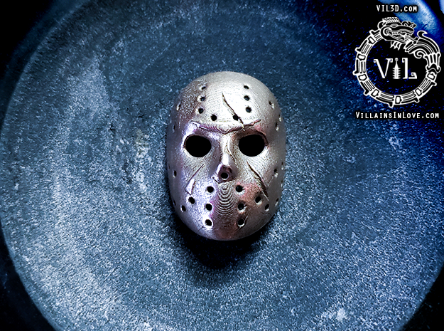MKX Jason Pendant ⛧ VIL ⛧ in Polished Bronzed-Silver Steel: Small