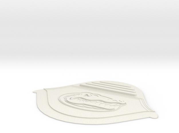 Jordan 3 replacement back tab FLORIDA GATOR in White Natural Versatile Plastic