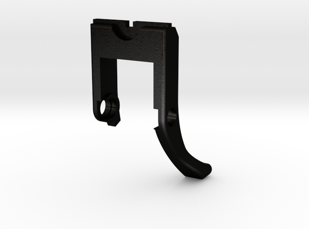 Well G293A latch in Matte Black Steel
