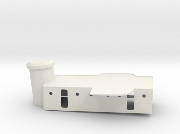 PC-471 Deckhouse 1/96th scale in White Natural Versatile Plastic