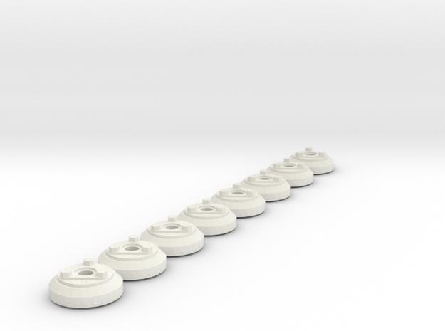 "AAR journal cap 8 up 1"" scale in White Natural Versatile Plastic"
