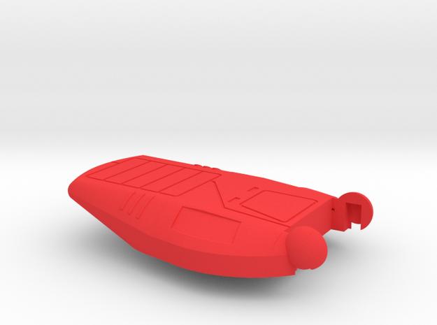 Starcom - Starmax - main laser cannon hold in Red Processed Versatile Plastic