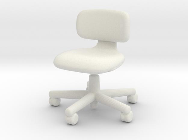 1:12 Miniature Rookie Chair  - Konstantin Grcic  in White Natural Versatile Plastic: 1:12