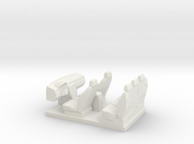 Silverado Interior in White Natural Versatile Plastic
