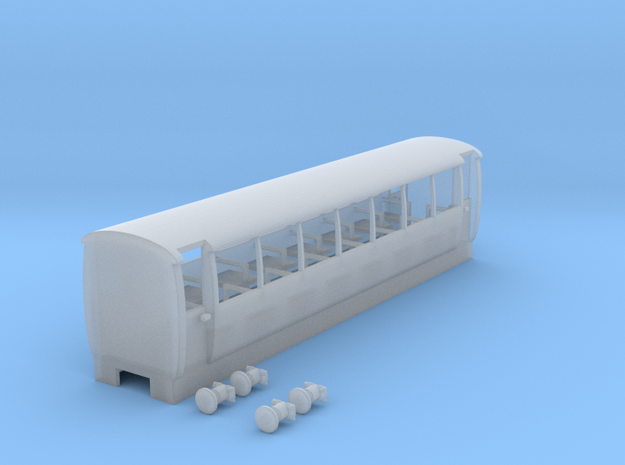Bala Lake Railway 3rd class open coach V2 in Smooth Fine Detail Plastic