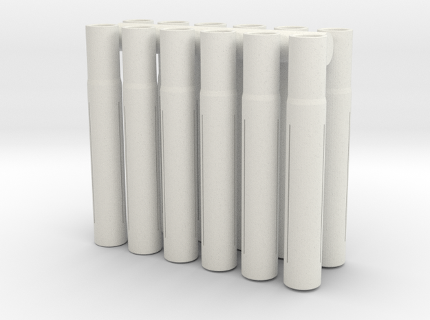 Expandable Barrel Lap: 8-32 Threading (12 Pack) in White Natural Versatile Plastic