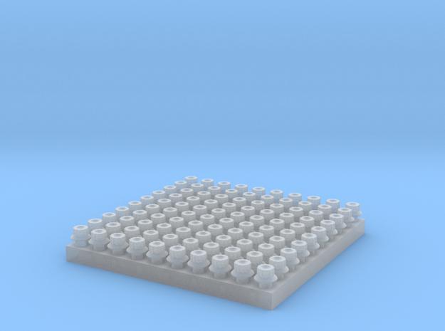 Aerospace Fastner Set 1 in Smooth Fine Detail Plastic