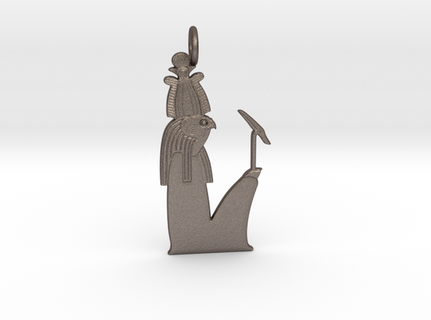 Sokar amulet in Polished Bronzed-Silver Steel