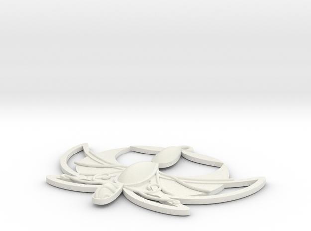 """1"""" Princess Tutu Pendant in White Natural Versatile Plastic"""