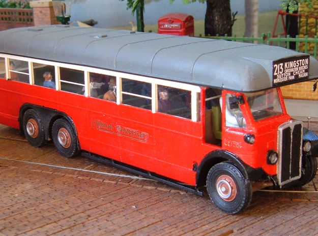 1:43 London Transport LTL Bus in White Natural Versatile Plastic