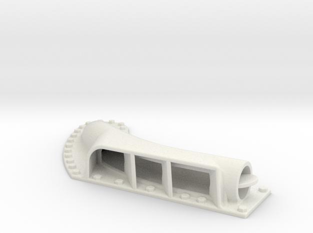 Higgins muffler late model port side in White Natural Versatile Plastic