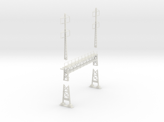 PRR signal lattice2-2x2-2_4 track in White Natural Versatile Plastic