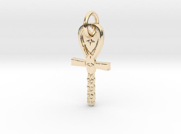 AnkHeart in 14k Gold Plated Brass: Medium