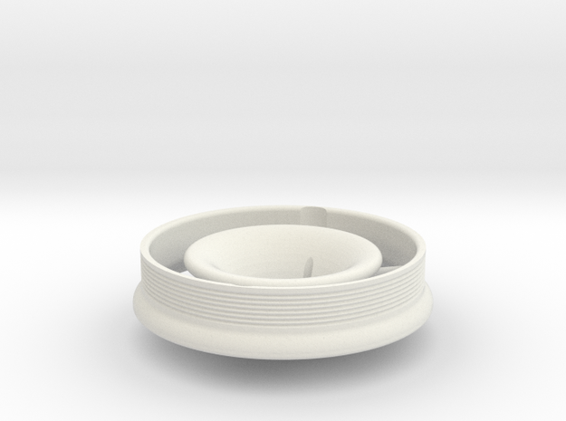 Bell-mouth for ET3 Polini air filter in White Natural Versatile Plastic