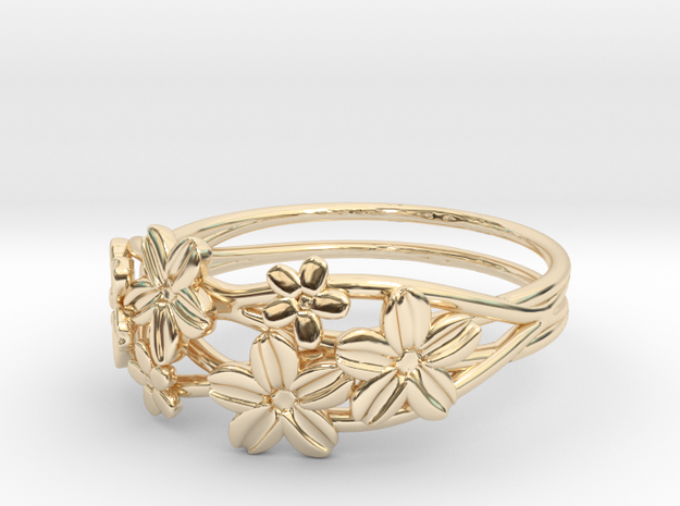 Poppy Ring Size 8--18.2mm in 14K Yellow Gold