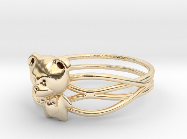 Teddy Ring Size 8--18.2mm in 14K Yellow Gold