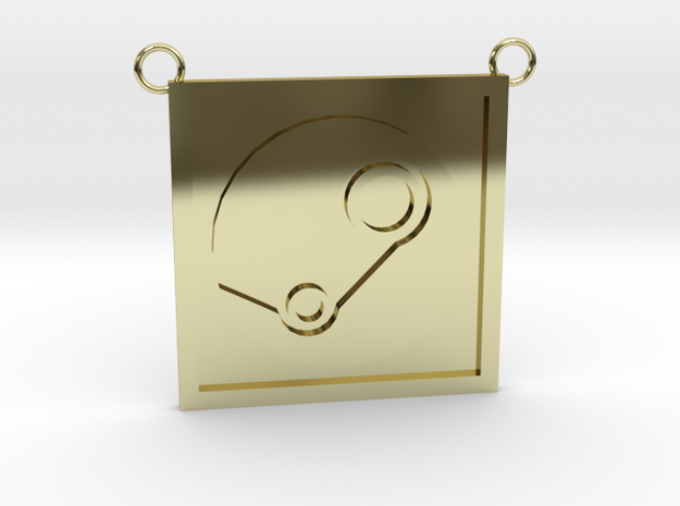 Steam Pendant (Contact for Any Customization) in 18K Yellow Gold