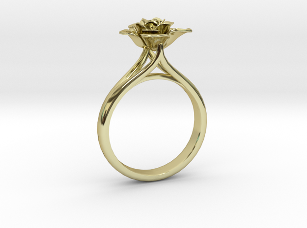 Flower Ring 12 (Contact to Add Stones) in 18K Yellow Gold