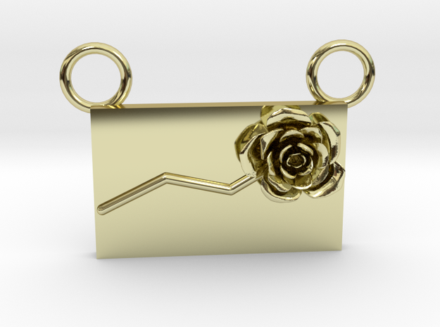 Flower Pendant 99 (Contact to Add Stones) in 18K Yellow Gold