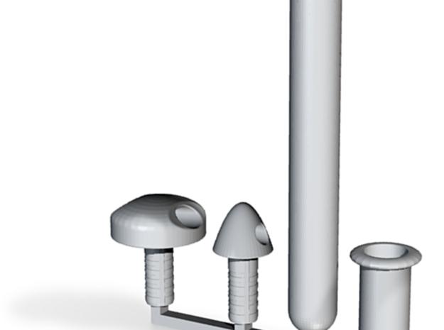 Cap and Tube - sampler in White Natural Versatile Plastic
