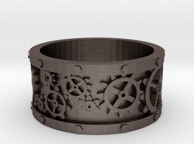 Steampunk Geared Ring 3d printed