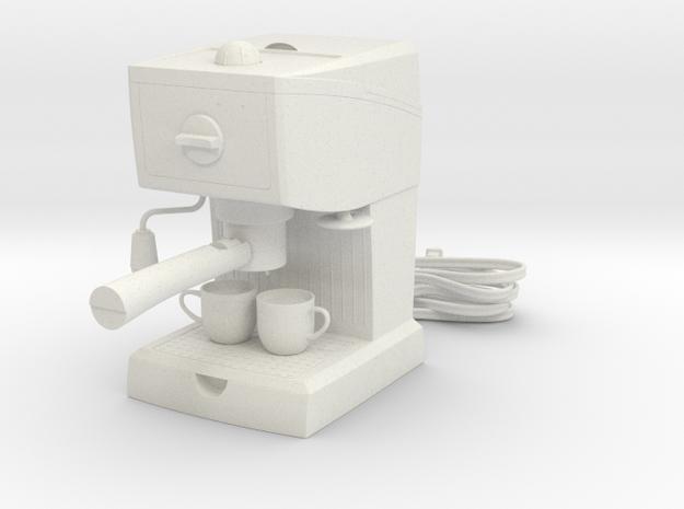 1:14 Espresso Machine  in White Natural Versatile Plastic