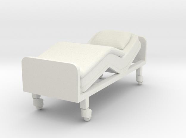 Hospital Bed 1/48 in White Natural Versatile Plastic