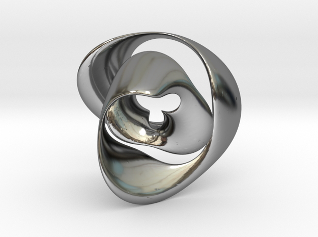 Knot 02 in Fine Detail Polished Silver