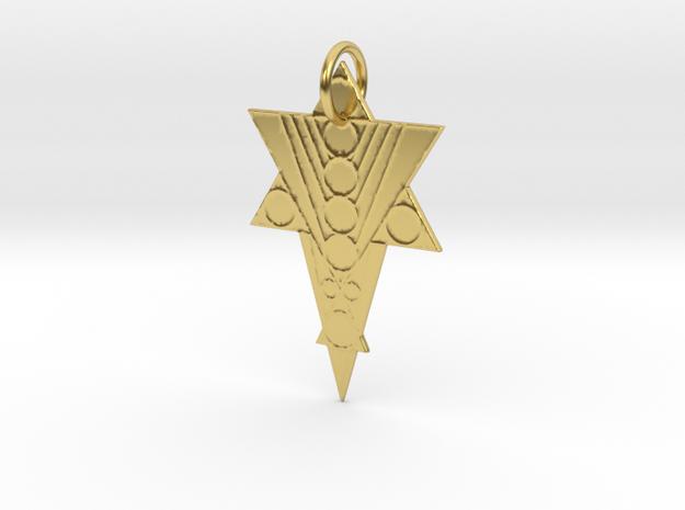 Pleiadi-Az Pendant in Polished Brass: Medium