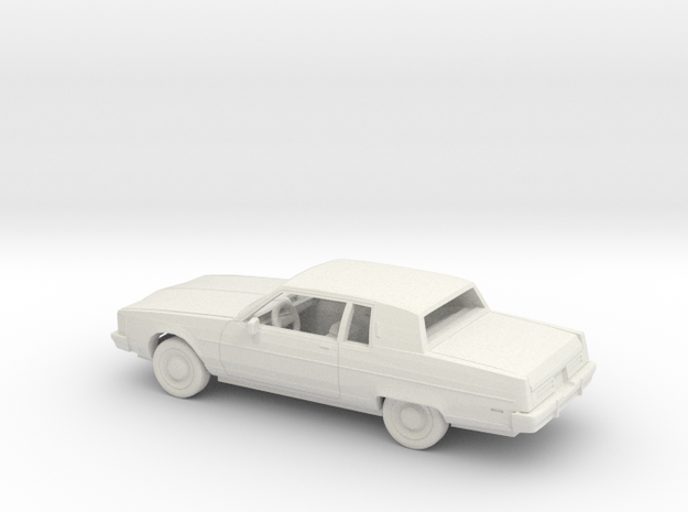 1/43 1980-84 Oldsmobile 98 Regency Coupe Kit in White Natural Versatile Plastic