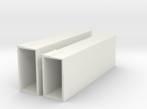 23 Elevator Shafts in White Natural Versatile Plastic