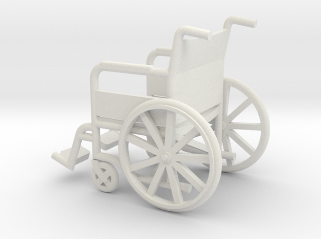 1:20 Wheelchair in White Natural Versatile Plastic