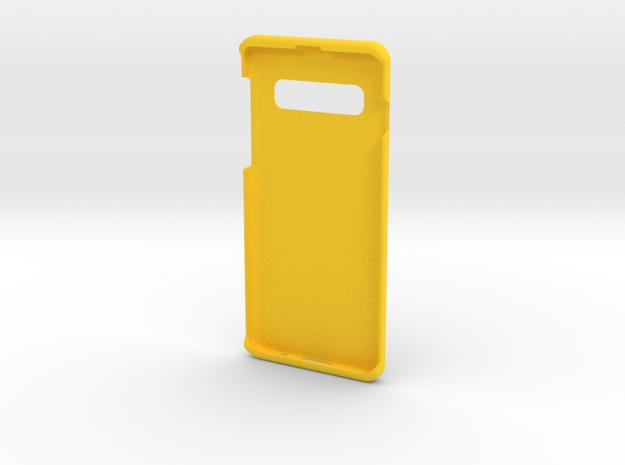 Samsung S10 jesus on Cross Cover in Yellow Processed Versatile Plastic
