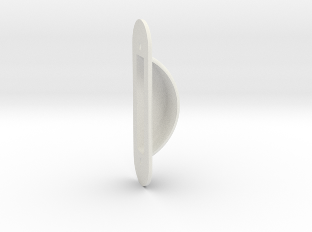 Safty Switch Guard, partial block in White Natural Versatile Plastic