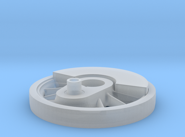 Locomotive Driver Wheel 1:20.3 scale in Smooth Fine Detail Plastic