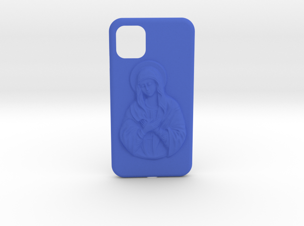 IPhone 11 Holy Mary Case in Blue Processed Versatile Plastic