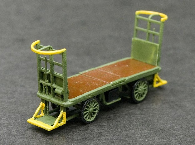 HO Scale (1/87) - Electric Baggage Cart in Smooth Fine Detail Plastic