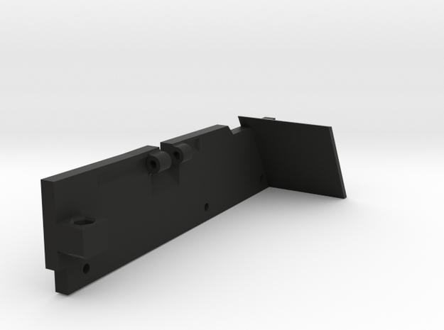 TrailKing JKU RIGHT rear shock mount in Black Natural Versatile Plastic