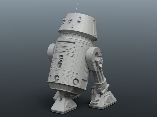 R5-D4 De Agostini 1/43 posable model in Smoothest Fine Detail Plastic