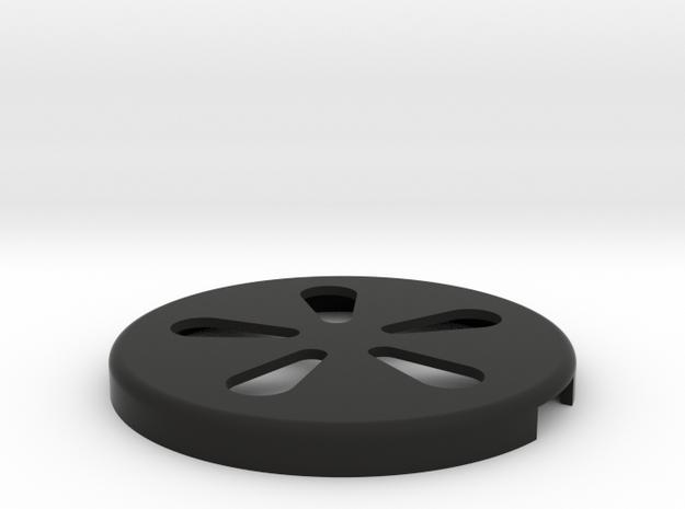 Oliver No.5 Typewriter Spool Cover in Black Natural Versatile Plastic
