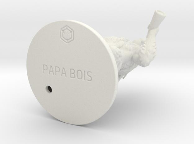 PAPA_BOIS_87.44mm in White Natural Versatile Plastic