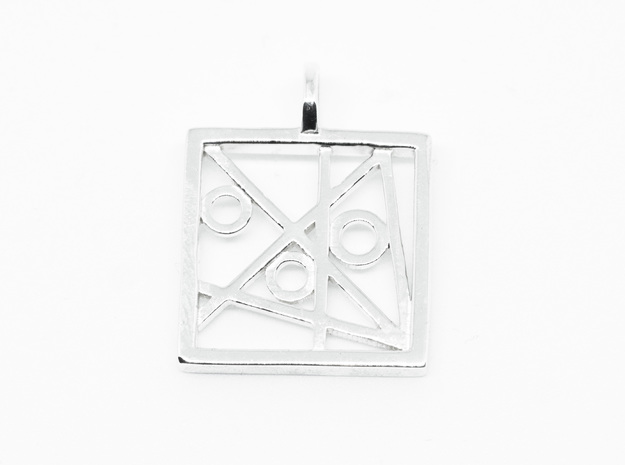 """""""Minimal Collection"""" Quad Art in Polished Silver"""