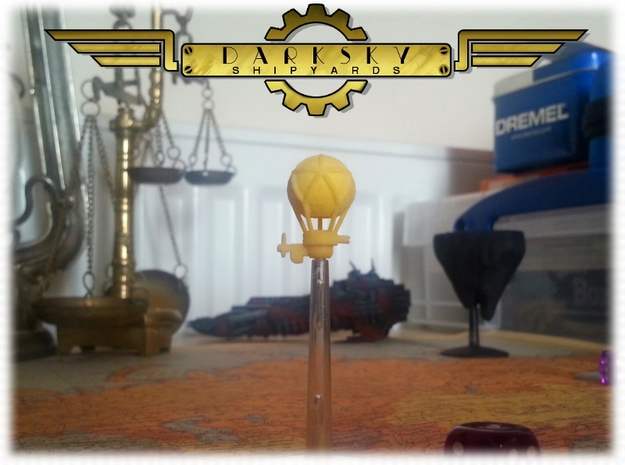 Gun-balloon | Steampunk Airship Miniature in Yellow Processed Versatile Plastic