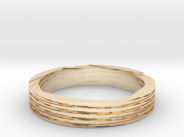 Swirl Ring in 14K Yellow Gold: Large
