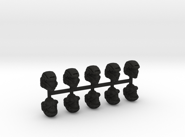28mm scale shock trooper Heads X10