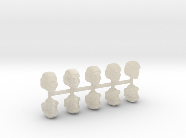 28mm scale shock trooper Heads X10 3d printed