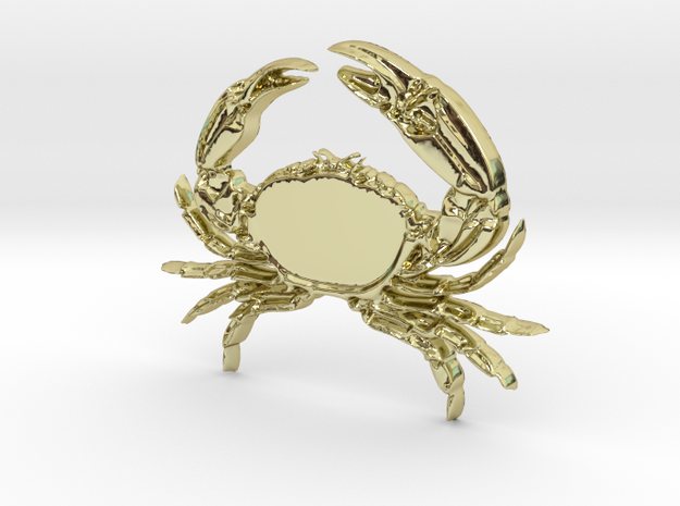 Creator Pendant crab in 18k Gold Plated Brass