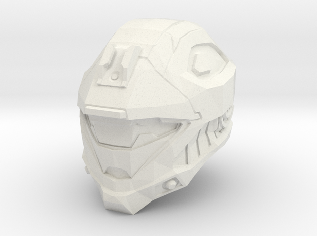 1/6 scale Helmet WSF in White Natural Versatile Plastic